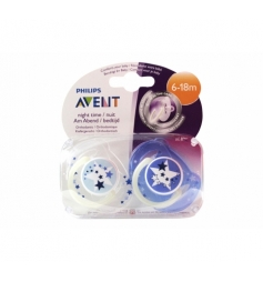 Avent Night Time 2 sucettes 6-18 mois