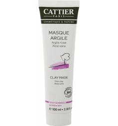 Cattier Masqueargile rose & aloe vera peau sensible 100ml