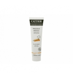 Cattier Masqueargile jaune hamamélis peau sèche 100ml