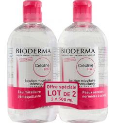 Bioderma Créaline H2Omicellaire sans parfum peau sensible 2x500ml
