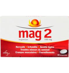 Mag2 Magnésium 60 comprimés