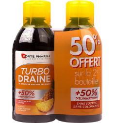 Forte Pharma Turbodraine solution buvable goût ananas 2x500ml