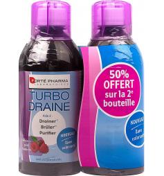 Forte Pharma Turbodraine solution buvable goût framboise 2x500ml