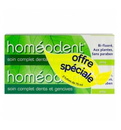 Homéodent Dentifrice dents& gencives arôme anis 2x75ml