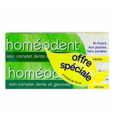 Homéodent Dentifrice dents & gencives arôme citron 2x75ml