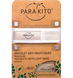 Parakito Bracelet anti-moustiques rechargeable Blanc uni