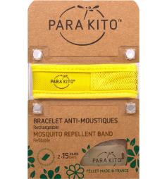 Parakito Bracelet anti-moustiques rechargeable Jaune uni