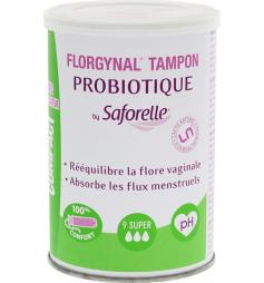 Saforelle Florgynal 9 tampons avec probiotiques super avec applicateur