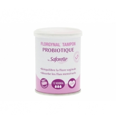 Saforelle Florgynal 12 tampons avec probiotiques normal sans applicateur
