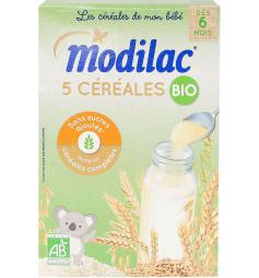 Modilac 5 Céréales Bio dès 6 mois 230g