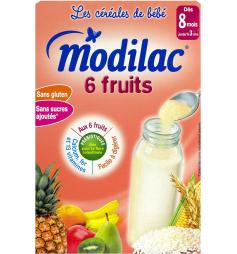 Modilac 6 fruits dès 8 mois à 3 ans 300g