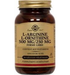 SOLGAR L-ARGININE-L-ORNITHINE 500/250 GELU VEG50