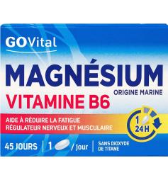 GoVital 45 comprimés magnésium vitamine B6