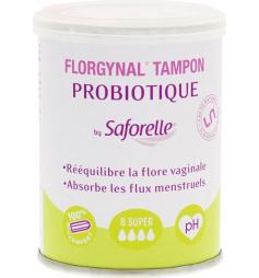 Saforelle Florgynal 8 tampons avec probiotiques super sans applicateur