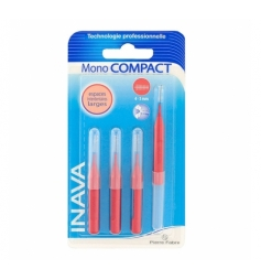 Inava Mono Compact 4 brossettes rouge (4-3 mm)