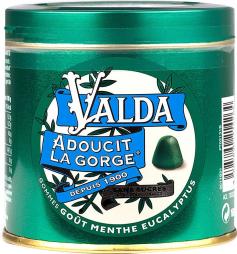 Valda gommes menthe & eucalyptus sans sucre 160g