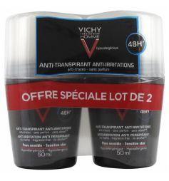 VICHY HOMme DEOdorant BILLE Peau sensible x2