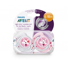 Avent Sucette Ultra Air Night 6-18 Mois