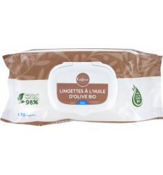Gifrer Lingettes à l'Huile d'Olive Vierge 70 Lingettes x2 Paquets