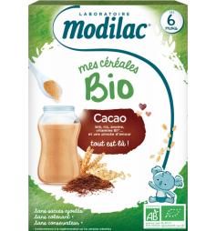 Modilac Mes Céréales Bio Dès 6 Mois Cacao 250 g