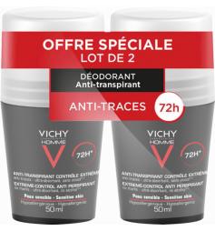 VICHY - Homme - Deodorant Anti Transpirant Bille 72H lot 2x50ml