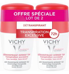 VICHY - Deodorant anti-transpirant détranspirant Intensif 72h - Roll-on Lot 2x50ml