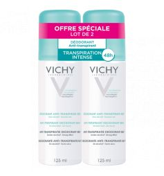 VICHY - Déodorant Anti-transpirant 48h, 2 flacons de 125ml