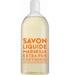 Savon liquide de Marseille recharge 1L Fleur d'Oranger