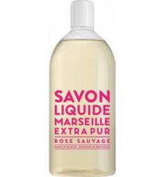 Savon liquide de Marseille recharge 1L Rose Sauvage