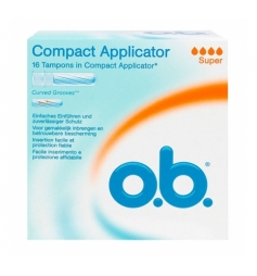 OB 16 tampons Compact avec applicateurs super
