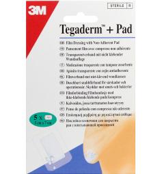 Tegaderm + Pad pansement imperméable 5cm x 7cm (5 pansements imperméables)